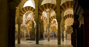 Interior of Mosque,  Cordoba,Andalusia,  Spain Royalty Free Stock Photos