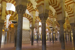 Interior of Mosque,  Cordoba,Andalusia,  Spain Stock Images