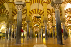 Interior of Mosque,  Cordoba, Spain Stock Photos