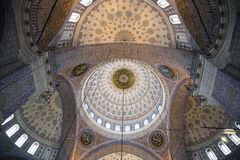 Interior of the mosque in istanbul. 20 july, 2014 Stock Photography