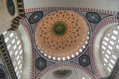 Interior of the mosque in istanbul. 20 july, 2014 Stock Image