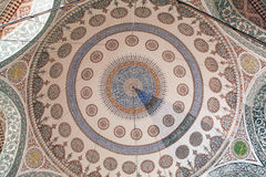Interior of the mosque in istanbul. 20 july, 2014 Royalty Free Stock Image