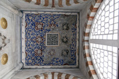 Interior of the mosque in istanbul. 20 july, 2014 Royalty Free Stock Photo