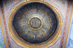Interior of the mosque in istanbul. 20 july, 2014 Stock Photos