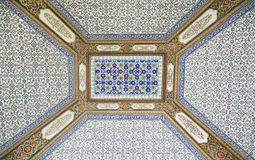 Interior of the mosque in istanbul. Royalty Free Stock Photos