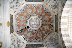 Interior of the mosque in istanbul. Royalty Free Stock Photo