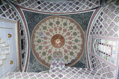 Interior of the mosque in istanbul. Stock Photography