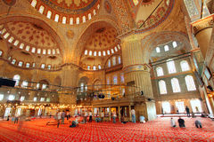 Interior mosque - Istanbul, Turkey Royalty Free Stock Photos