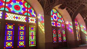 Interior of the mosque Nasir Al-Molk in the ancient Iranian city of Shiraz