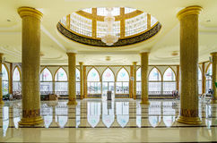 Interior of Mosque in Panyee Island Royalty Free Stock Photo