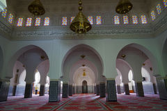 The interior of the mosque of Rissani in Morocco. Rissani in Arabic: الريصاني, Er-Rissani, in Berberi: ⵔⵉⵙⵙⴰⵏⵉ is a city in Morocco, in the stock image