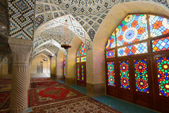 Interior of Mosque in Shiraz, Iran Royalty Free Stock Photos