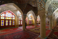 Interior of Mosque in Shiraz, Iran Royalty Free Stock Photo