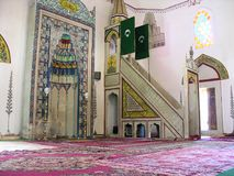 The interior of the mosque Stock Images
