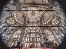 Interior Mosque of sultan Mehmed the Conqueror stock photography