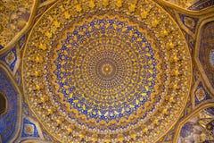 Interior of the mosque Tilya Kari Stock Photos