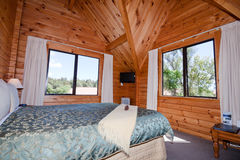 Interior of mountain wooden lodge Royalty Free Stock Image