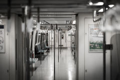 The interior of an MRT train in Taipei, Taiwan. royalty free stock image