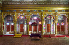 Interior mughal architectural details of Mehrangarh Fort Royalty Free Stock Photography