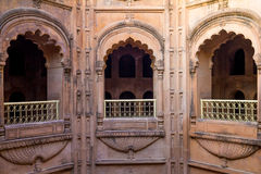 Interior of Mughal Architecture. The interiors of a Mughal Step Well built in Lucknow Royalty Free Stock Images