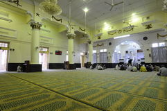 Interior of The Muhammadi Mosque a.k.a The Kelantan State Mosquei Royalty Free Stock Image