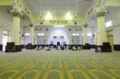 Interior of The Muhammadi Mosque a.k.a The Kelantan State Mosquei Royalty Free Stock Photo