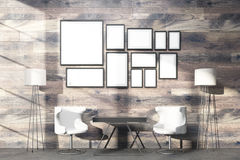 Interior with multiple frames Royalty Free Stock Image