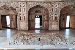Interior of the Musamman Burj in Red Agra Fort Stock Photos