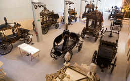 Interior of Museu de Carrosses Funebres in Barcelona Stock Images