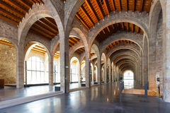 Interior of Museu Maritim de Barcelona Royalty Free Stock Photo
