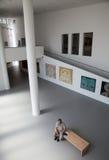 Interior of museum Danubiana, Bratislava - Slovakia stock image