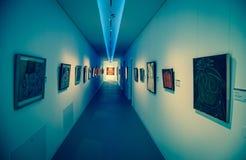 Interior of museum Danubiana, Bratislava - Slovakia royalty free stock photography