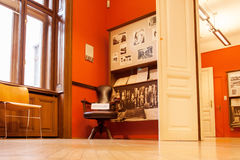 Interior of the museum of founder of psychoanalysis Sigmund Freud with office, where neurologist lived for 47 years Royalty Free Stock Photography