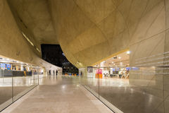 Interior of Museum of the History of Polish Jews in Warsaw, Poland Stock Photos
