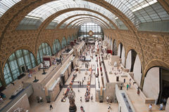 Interior of Museum Orsay in Paris, France. Royalty Free Stock Photo