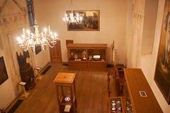 TRAKAI, LITHUANIA - JANUARY 02, 2013: Interior of the Museum of Sacred Art part of the Trakai Historical Museum. Interior of the Museum of Sacred Art part of stock photography