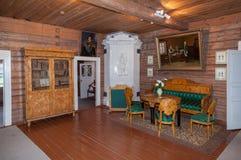 The interior of the museum Suvorov. KONCHANSKOE-SUVOROVSKOE, RUSSIA - JULY 17: The interior of the museum Suvorov in Konchanskoe-Suvorovskoe on July 17, 2013 Stock Photo