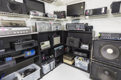 Interior Music and Electronics Store royalty free stock image