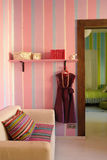 Interior na cor cor-de-rosa Fotografia de Stock Royalty Free