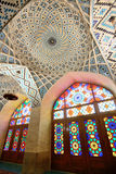 Interior of Nasir al-Mulk Mosque Stock Photos