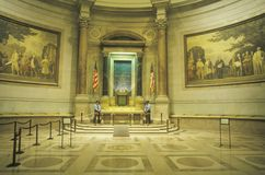 Interior of the National Archives, Washington, D.C. Royalty Free Stock Photos