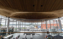 Interior of National Assembly for Wales B. Wales, Cardiff - May 28, 2017: Interior of National Assembly for Wales B stock photography