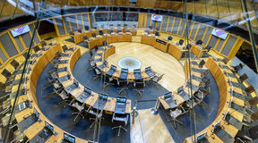 Interior of National Assembly for Wales D. Wales, Cardiff - May 28, 2017: Interior of National Assembly for Wales D stock photos
