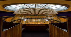 Interior of National Assembly for Wales E. Wales, Cardiff - May 28, 2017: Interior of National Assembly for Wales E stock photo