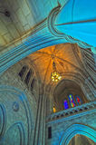 Interior of a national cathedral. Gothic classic architecture royalty free stock photo