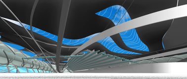 Interior of national centre for aquatic olympic games Royalty Free Stock Photo