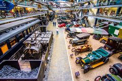 Interior of National Technical Museum in Prague. For over a hundred years extensive co Royalty Free Stock Photo