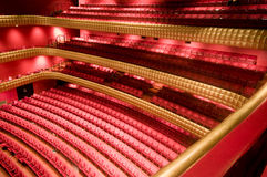 Interior national theater nicaragua. Ruben Dario National Theater Managua Nicaragua interior plush red velvet seats Central America Royalty Free Stock Photography