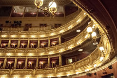 The interior of the National Theater in Prague Royalty Free Stock Images