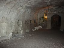 The interior of the necropolis in the Bet She`arim National Park  in the Kiriyat Tivon city in Israel. The interior of the necropolis in the Bet She`arim Stock Images